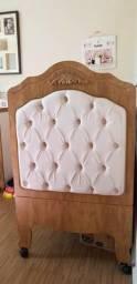 Berço provençal almofadado + Kit berço (estado de novo) - Usado apenas 7 meses