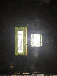 Memória 4gb ddr3 e placa de Wi-Fi netbook acer
