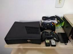 Xbox360 Slim 250Gb Destravado RGH+LTU 2 controles 37 Jogos Netflix e Emulador comprar usado  São Bernardo do Campo