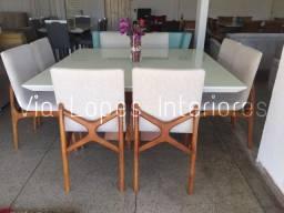 Mesa quadrada de 1.50 por 1.50 ctm com oito cadeiras X, wpp 62 9  *