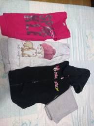 Lote de roupa de menina 3/4 anos