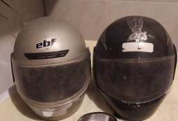 Dois capacete usados tm. 56 e 58 valor é uma pechincha 100 $ os dois
