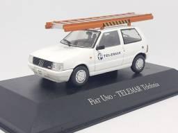 Miniatura Fiat Uno telemar 1:43 metal