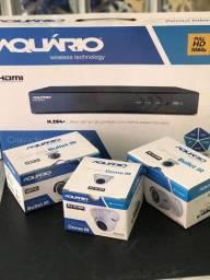 Kit Segurança DVR Stand Alone com Câmeras Aquário Novo