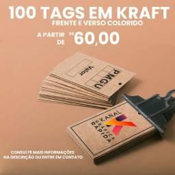 Etiqueta tag em papel Kraft