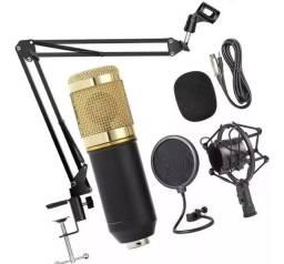 Kit Microfone P2 Condensador