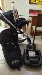 Carrinho de bebê Kiddo Eclipse com bebê conforto - LEIA O ANÚNCIO ANTES
