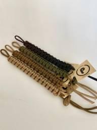 Bracelete pulseira de paracord regulável