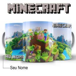 Minecraft Caneca Personalizada Com Nome Ou Nick