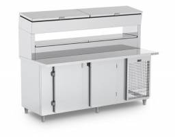 balcão refrigerado com condimentadora pronta entrega 8douglas