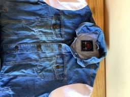 Título do anúncio: Jaqueta Jeans com mangas em moletom