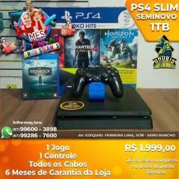 Título do anúncio: Anubis Games: PS4 Slim de 1TB seminovo em até 10x sem JUROs!!!!!