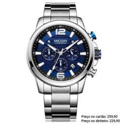 Relógio Masculino Original Megir 100% funcional