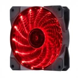 Título do anúncio: fan/cooler gamer v.lumi 15 pontos de led 120x120 vermelho