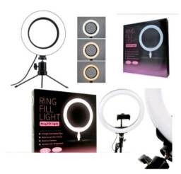 Título do anúncio: Ring Light tripé de mesa novo envio rápido