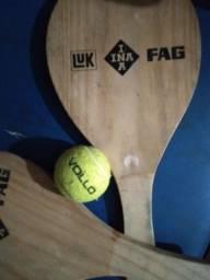 Raquetes de madeira +bola(original)
