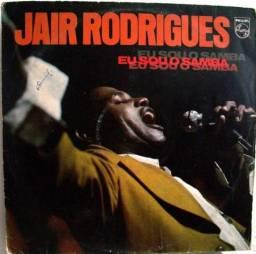 """Disco Vinil """"Jair Rodrigues - Eu Sou o Samba"""" - 1975 - Usado"""