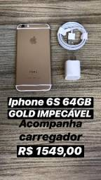 Iphone 6S 64GB Gold Semi novo impecável