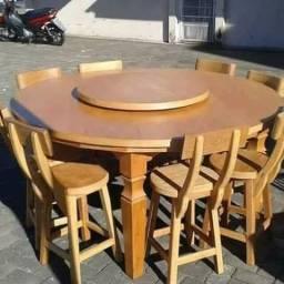 Fabricamos mesa com prato giratorio