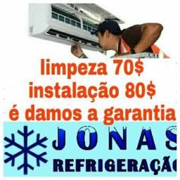Refrigeração fazermos uma grande promoção limpeza 70 instalação 80