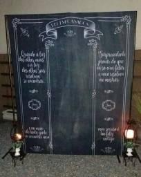 Painel de tecido chalkboard