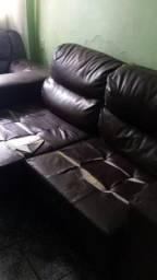 2 sofá de couro