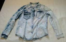 Blusas Jeans LEVE/ Blusa Lese/Terninho