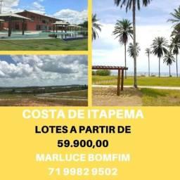 Costa de Itapema, lotes/Saubara/Santo Amaro,a partir de 58.500, condomínio clube
