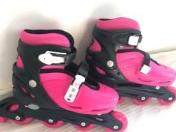 de1996a893 Patins Roller Infantil - Bel Sports - Rosa - G (37 a 40)