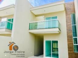 Duplex de luxo , porcelanato 4 quartos , 3 suites, fino acabamento na messejana