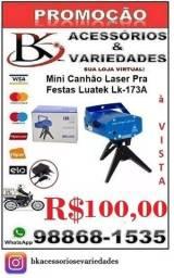 Mini Canhão Laser Pra Festas Luatek Lk-173A-(Loja BK Variedades)