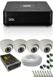 Kit de vigilância com 4 cameras instaladas