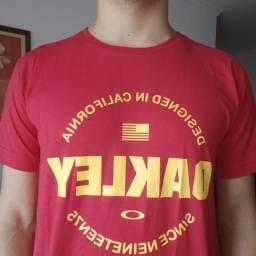 Camisa oakley vermelha/amarela