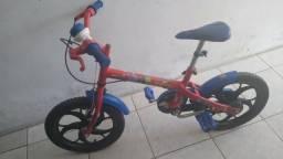 Bicicleta Caloi homem aranha aro 16