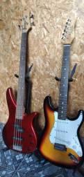 Guitarra e Contra baixo comprar usado  Belo Horizonte