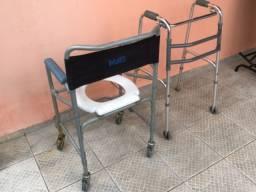 Vende-se cadeira de banho para idoso e andajar