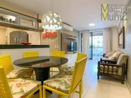 Apartamento com 3 dormitórios para alugar, 88 m² por R$ 2.600,00/mês - Porto das Dunas - A