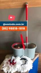 Título do anúncio: Mop inox giratório balde com rodinha suporta 14 litros. *