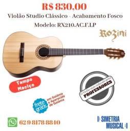 Violão Studio Rozini RX-210 Acústico Novo com Nota Fiscal e Garnatia de 12 meses