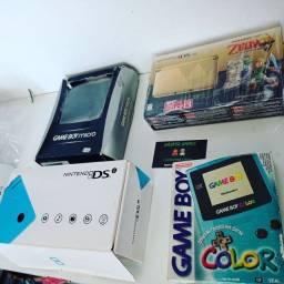 Games retro portáteis na caixa completos