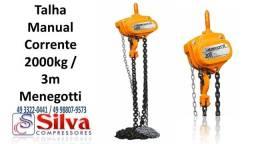 Título do anúncio: Talha Manual Corrente 2T 3Mt Menegotti