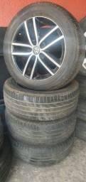 Título do anúncio: Rodas Golf Highline 5x100 aro 16 +pneus em até 10x de R$210,00 no cartão de crédito