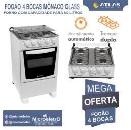 Título do anúncio: Fogão 4 Bocas Mônaco GlasS