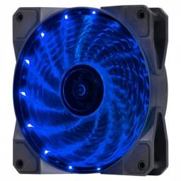 Título do anúncio: fan/cooler gamer v.lumi 15 pontos de led 120x120 azul - vlumi15b