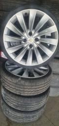 Título do anúncio: Rodas Esportivas Chevrolet aro 17 com pneus em até 10x de R$315,00 no cartão de crédito