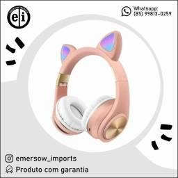 Título do anúncio: Fone De Ouvido Bluetooth Gato Orelha Brilhante - Entrega Grátis