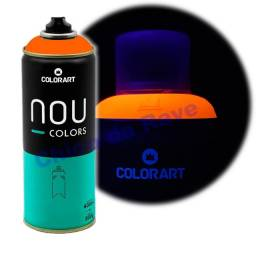 Tinta spray laranja fluorescente Nou Colors (laranja luminoso)