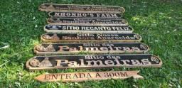 Título do anúncio: Placa para Fazenda, chácara, sítio em madeira
