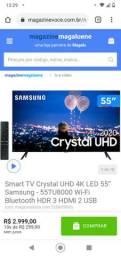 Smart TV Crystal UHD 4K LED 55? Samsung - 55TU8000 Wi-Fi Bluetooth HDR 3 HDMI 2 USB<br><br>