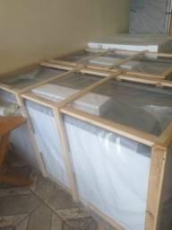 Freezer tampa vidro 400 litros novo Parcelo entrego taxa